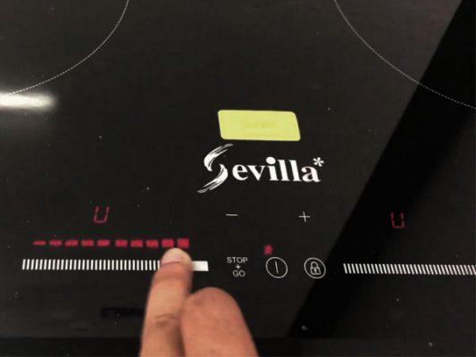 Ảnh phím điều khiển và chức năng của bếp từ Sevilla