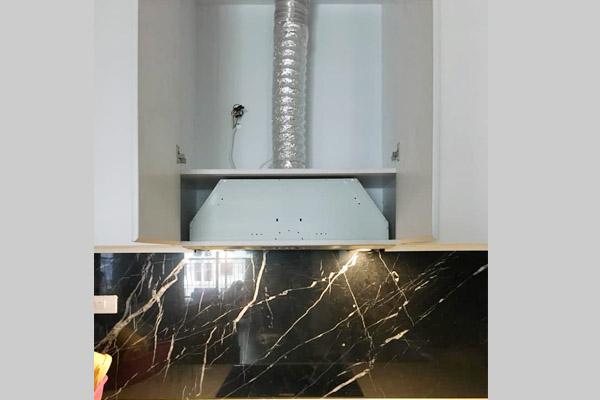 Hình ảnh thực tế máy hút mùi Cata GC DUAL WH 45