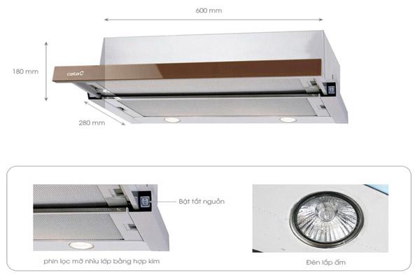 Hình ảnh thực tế máy hút mùi Cata TF 2003 60 SD