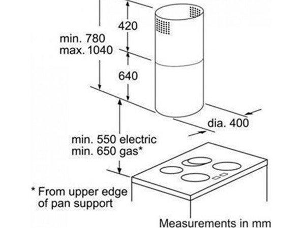 Máy hút mùi Bosch DIC043650 2