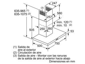 Máy hút mùi Bosch DWB76BC50 3