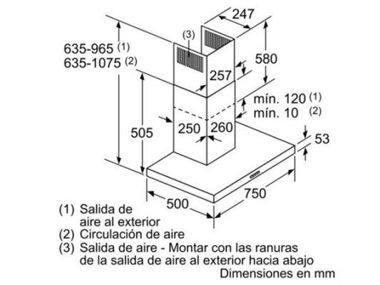Kích thước lắp đặt máy hút mùi Bosch DWB76BC50