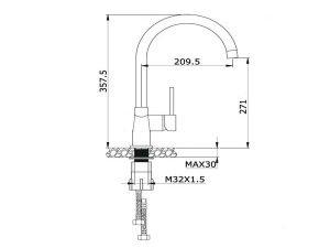 Vòi rửa bát Konox KN1203 3
