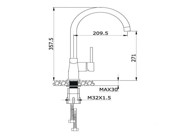Vòi rửa bát Konox KN1203BG 2