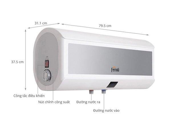 Bình nóng lạnh Ferroli INFINITI MAX 20L 2