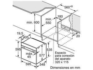 Lò nướng Bosch HBG634BS1 3