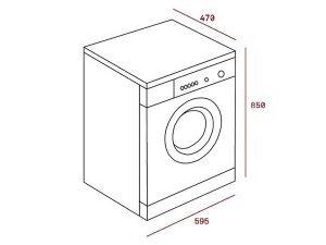 Máy giặt Teka TKX3 1260 3