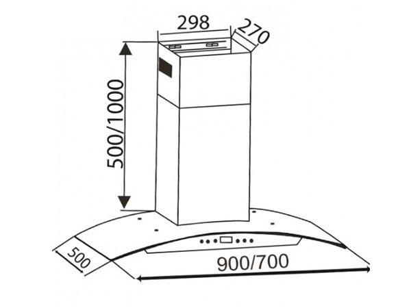Máy hút mùi Canzy CZ-0390 2