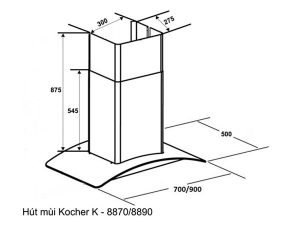 Máy hút mùi Kocher K-8890 3