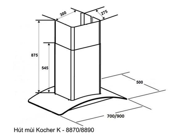 Máy hút mùi Kocher K-8890 2