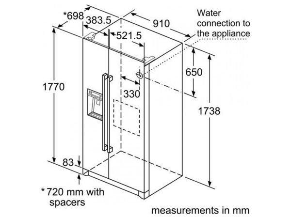 Tủ lạnh Bosch KAI90VI20 2