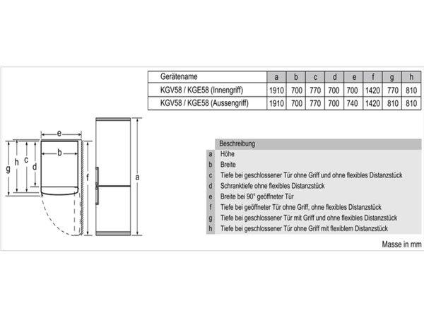 Tủ lạnh Bosch KGV58VL31S 2