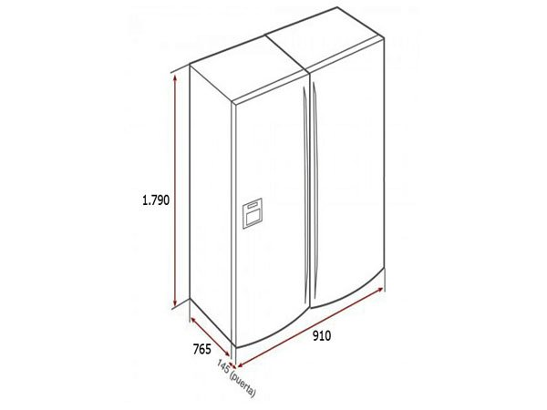 Tủ lạnh Teka NFE3-650X 2