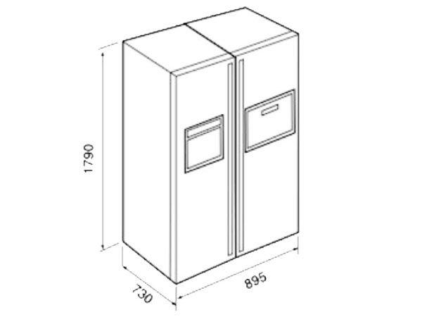 Tủ lạnh Teka NFD 680 BLACK 2