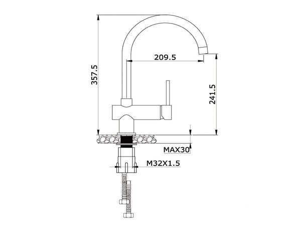 Vòi rửa bát Konox KN1003G 2