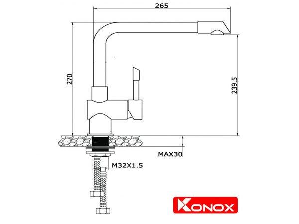 Vòi rửa bát Konox KN1205 2