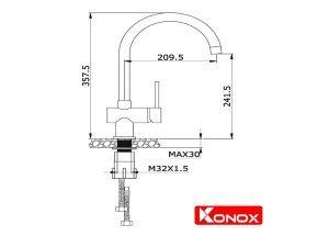 Vòi rửa bát Konox KN1206 3