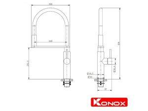 Vòi rửa bát Konox KN1618 3