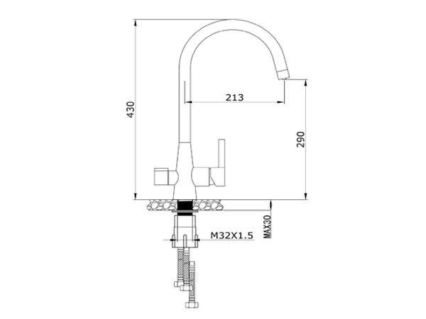 Vòi rửa bát Konox KN1309 2