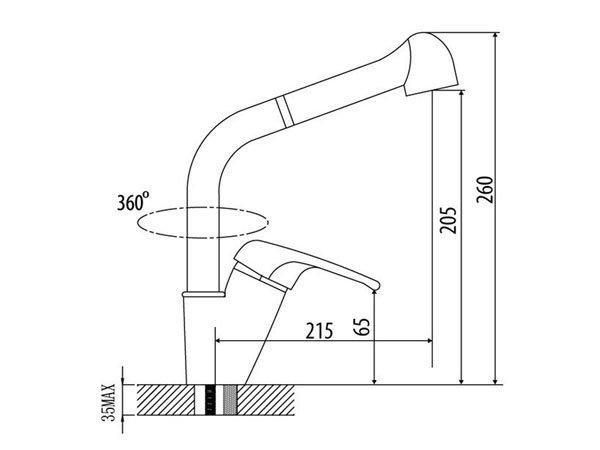 Vòi rửa bát Malloca K119-T4 2