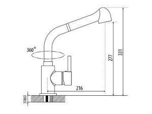 Vòi rửa bát Malloca K119-T9 3