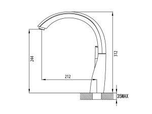 Vòi rửa bát Malloca K202C 3