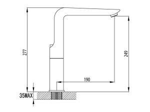 Vòi rửa bát Malloca K289C 3
