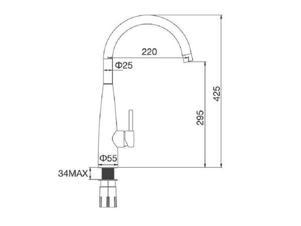 Vòi rửa bát Malloca K529-S 2