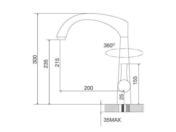 Vòi rửa bát Malloca K151T 2