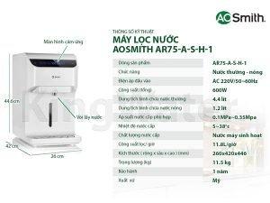 Máy lọc nước Aosmith RO AR75-A-S-H1 4