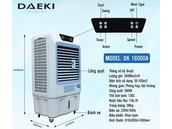 Quạt điều hòa Daeki DK 16000A 2