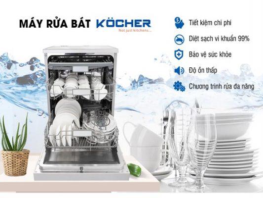 Chức năng máy rửa bát Kocher DW15EU-8835