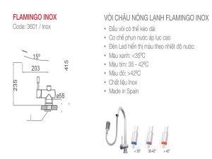 Vòi rửa bát Nodor Flamingo Inox 3