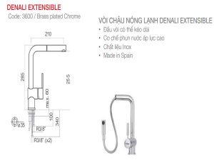 Vòi rửa bát Nodor DENALI EXTENSIBLE 3