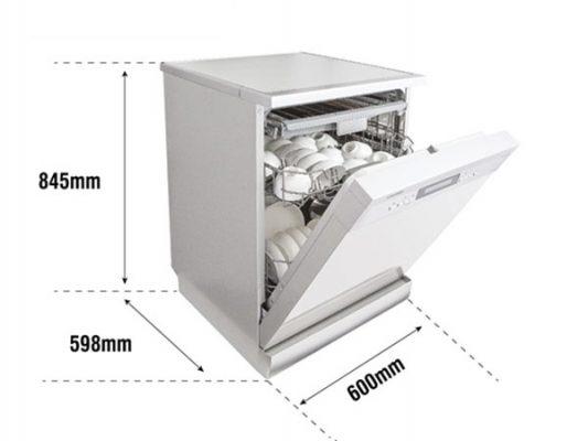 Kích thước lắp đặt máy rửa bát Texgio TG-W60F966