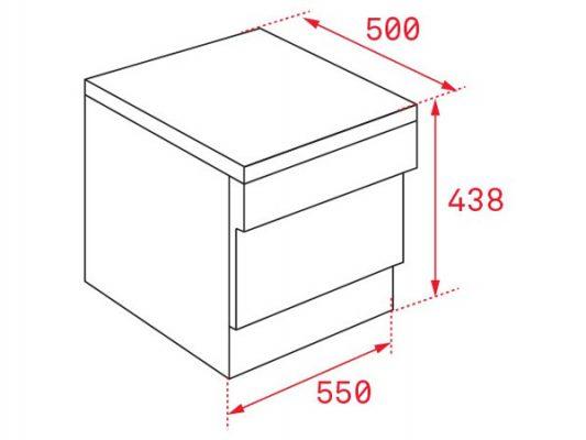 Kích thước lắp đặt máy rửa bát Teka LP2 140