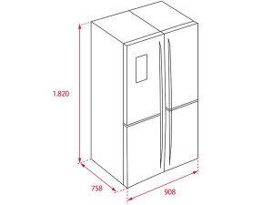 Tủ lạnh Teka NFE4 900 X 4