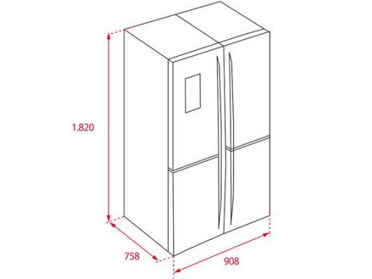 Kích thước lắp đặt tủ lạnh Teka NFE4 900 X