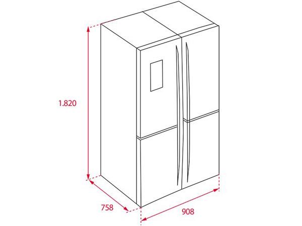 Tủ lạnh Teka NFE4 900 X 2