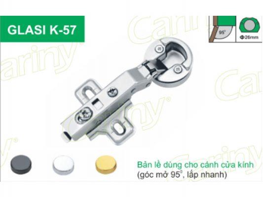 Bản lề giảm chấn Cariny GLASI K57 2