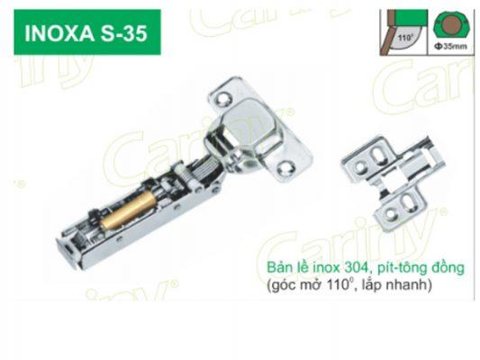 Bản lề giảm chấn Cariny INOXA S-35 Inox 304 7