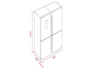 Tủ lạnh Teka NFE-900X 3