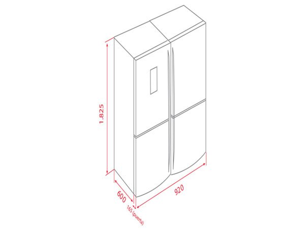 Tủ lạnh Teka NFE-900X 2
